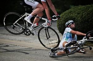 ロードバイククラッシュ