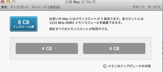 mac メモリ増設