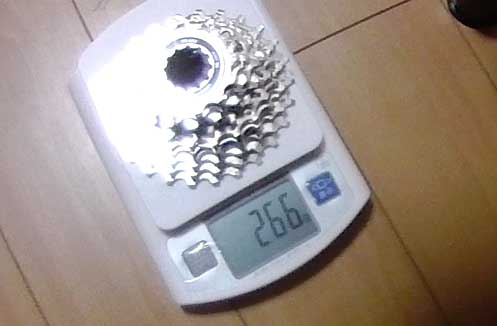 CS-5800スプロケットの重さ